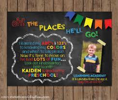 preschool graduation invitations dr seuss preschool graduation invitation kindergarten