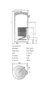 ariston 3060276 500 litres classico sti 500 he high