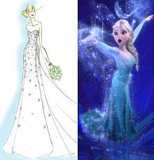disney u0027s elsa inspired wedding gown instyle