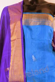 Buy Royal Blue Pure Silk Buy Handloom Ladies Cotton And Silk Dress Materials Www Weaveland In
