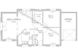 plan maison 90m2 plain pied 3 chambres plan de maison moderne plain pied 4 chambres beau plan maison plain