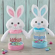 personalized candy jar pink easter bunny easter gifts