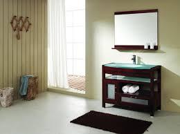 bathroom use floating oak bathroom sink cabinets and round sink