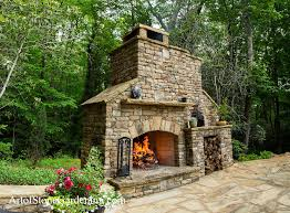 outdoor pizza oven and fireplace art of stone gardening