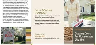 brochure templates u2013 printable samples