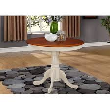 walmart round dining table round dining table in buttermilk and cherry finish walmart com