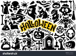 set halloween characters items bat blood stock vector 476709892