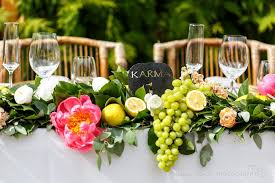floral garland floral garland runners with fresh lemons chelan karma