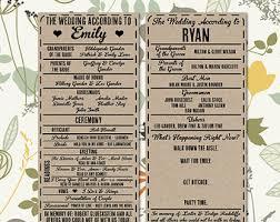 playbill wedding program printable digital wedding program vintage playbill theme