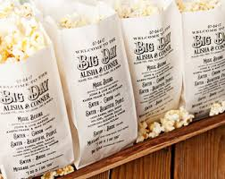 popcorn wedding favors etsy your place to buy and sell all things handmade
