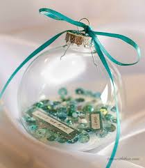 personalized clear glass ornament gift time with thea