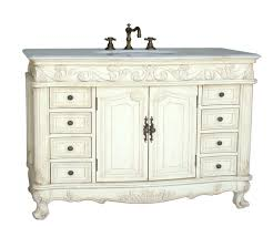 48 inch double sink bathroom vanity in antique white antique