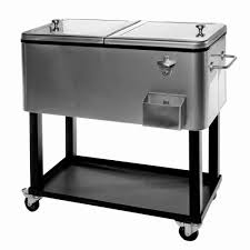 Patio Ice Cooler by Reviews For Tommy Bahama Deluxe Stainless Steel Rolling Party