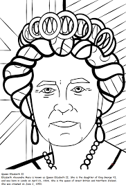 the notable queen elizabeth coloring pages coloring pages