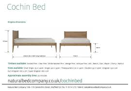 Super King Size Bed Dimensions Cochin Classic Bed Solid Wood Beds Natural Bed Company