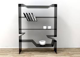 furniture home new fashion book shelf clear acrylic design modern