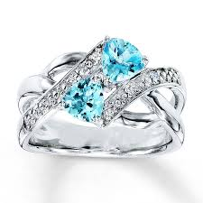 blue wedding rings blue topaz ring accents sterling silver