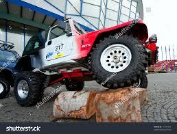 racing jeep wrangler bucharest romania may 13 jeep wrangler stock photo 77547304