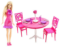 amazon com mattel barbie doll and dining room gift set toys u0026 games