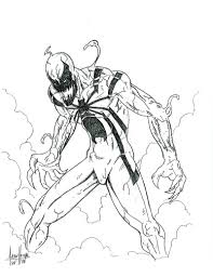 anti venom coloring pages sketch coloring page