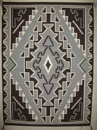 two grey hills rug by desbah shonie c 1950 u0027s large size two