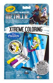 frozen xtreme coloring metallic crayola