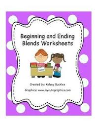 ending blends words chart charts words and to look