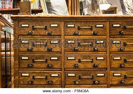 Library Catalog Cabinet Vintage Library Card Catalog Stock Photo Royalty Free Image