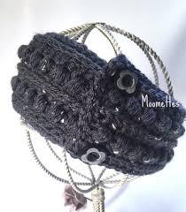 crochet ear warmer headband ear warmer fisherman aran gray greytweed crochet earwarmer