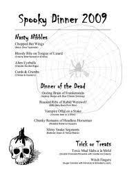 mystery dinner menu cancel out the halloween theme halloween