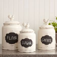 kitchen captivating ceramic kitchen jars white canisters with