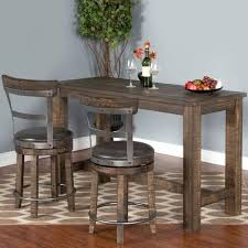 Bar Table Sets Sunny Designs Metro Flex 3 Piece Pub Table Set With Distressed