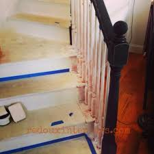 Painting A Banister Black How To Paint A Staircase Black And White With All The Details