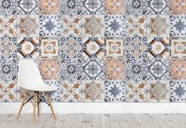 on trend tile effect wallpaper u2014 heart home