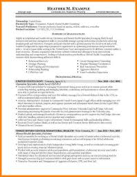Sample Resume Mental Health Counselor by Federal Resumes Examples Free Resume Templates With Regard To