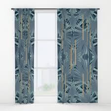 Blue Green Curtains Tropical Deco 1 1a Blue Green Gold Window Curtains By