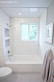 Subway Tile Bathroom Designs Black And White Tile Bathroom Decorating Ideas The Contrast