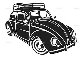 volkswagen bug drawing vw bug tattoo vector coloring for adults kleuren voor
