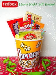 thanksgiving gift for teachers movie night redbox gift basket teacher gift idea