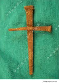 religious symbols nail cross stock image i1020540 at