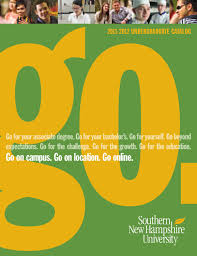 southern new hampshire university undergraduate catalog 2011 2012
