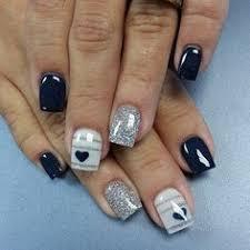 navy blue chevron glitter nails fabulous nails pinterest