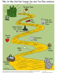 printable yellow brick road bnute productions free printable wizard of oz scavenger hunt game