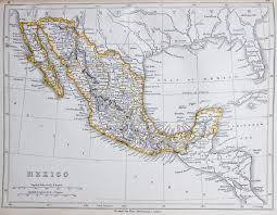 Map Of Mexico by Map Of Mexico 1853