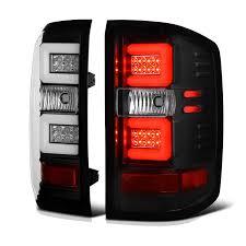chevy silverado tail lights 2016 chevy silverado performance led tube tail lights black
