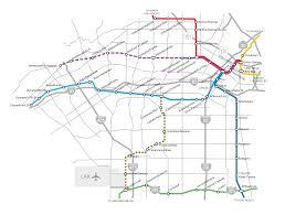 Metro Rail Map by Purple Line Extension Wikipedia