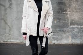 best moto jacket off white shearling moto jacket the best shearling jackets black