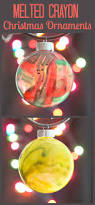 melted crayon christmas ornaments crafts easy christmas crafts