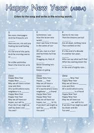 happy new year abba interactive worksheet