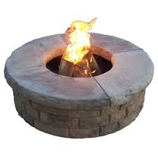 Fire Pit Kits by Stonebilt Concepts 22 In Wood Burning Dark Buff Fire Pit Kit Fp